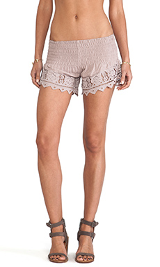 Tiare Hawaii Eyelet 2 Short in Fawn