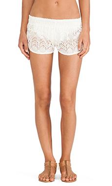 Tiare Hawaii Lace Shorts in Cream