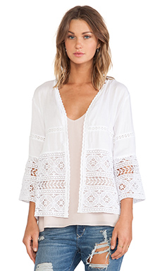 Tiare Hawaii Flores Jacket in White