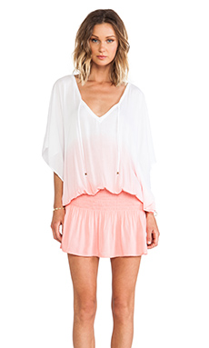 Tiare Hawaii Jimbaran Tunic in White & Coral