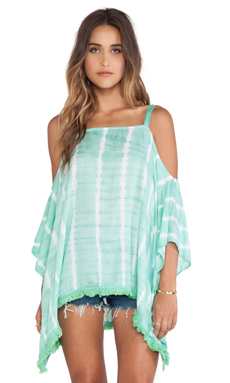 Tiare Hawaii Tunique en Teal & White Vert