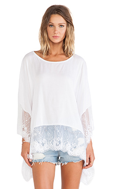 Tiare Hawaii Lacey Top in White