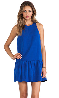 Tibi Katia Faille Dress in Electric Blue