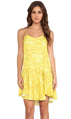 Tibi Ibis Ruffle Cami Dress in Citrine Multi