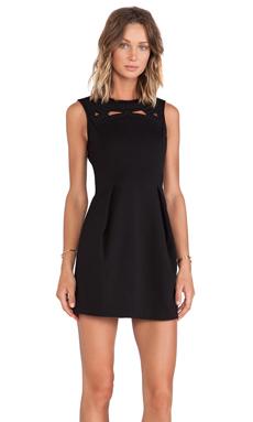 Tibi Boutis Embroidery Sleeveless Dress in Black