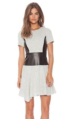 Tibi Whitby Dress in Natural & Black