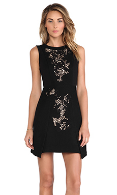 Tibi Crochet Dress in Black