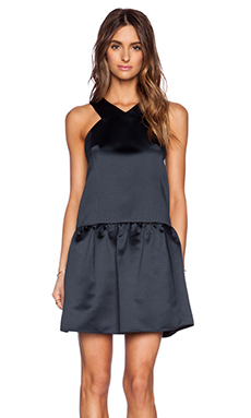 Tibi Drop Waist Dress in Navy