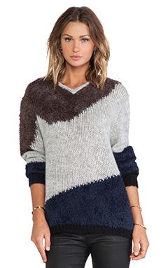 Tibi Mohair Sweater in Light Heather