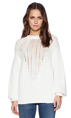 Tibi Cozy Pullover in Ivory