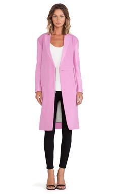 Tibi Boucle Long Coat in Pink