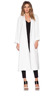 Tibi Kimono Maxi Coat in White