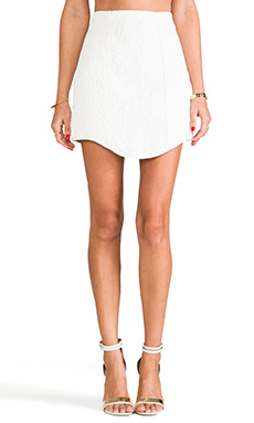 Tibi Katrin Paneled Skirt in Almond