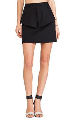 Tibi City Peplum Skirt in Black