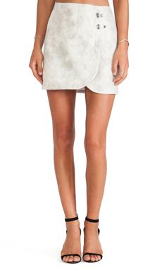 Tibi Pony Hair Skirt in Ivory Multi