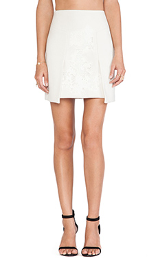 Tibi Flap Skirt in Ivory