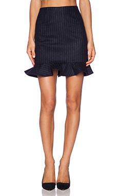 Tibi Flouncy Skirt in Navy Multi