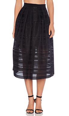 Tibi Ribbon Full Skirt in Black