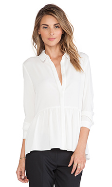Tibi Savanna Blouse in Ivory