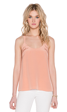 Tibi Tie Back Cami in Momo Peach