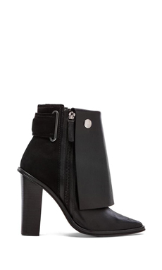 Tibi Bailey Booties in Black