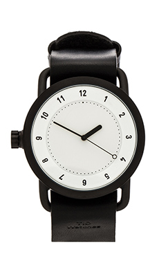 TID Watches No. 1 + Leather Wristband in White & Black