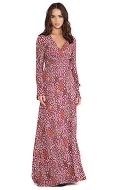 Tigerlily Boquet Floral Maxi Dress in Garnet