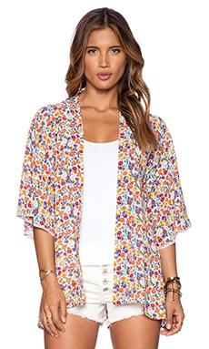 Tigerlily Torrent Kimono in Tumeric