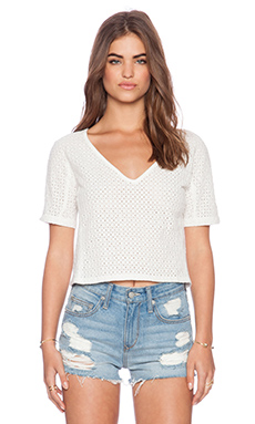 Tigerlily Salins Top in White