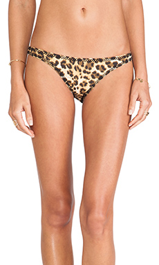 Tigerlily Havana Bikini Bottom in Earthy Leopard