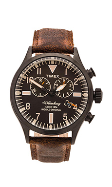 Timex The Waterbury Chrono in Black & Brown