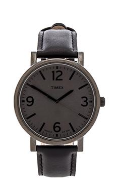 Timex Originals Classic Round 42mm in Black & Black & Black