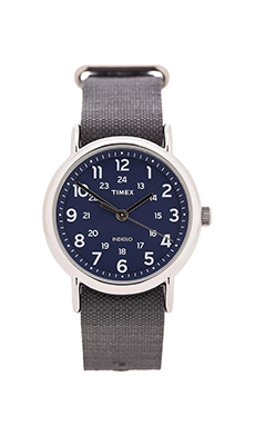 Timex The Weekend 38mm Cordura Ripstop in Gray & Blue