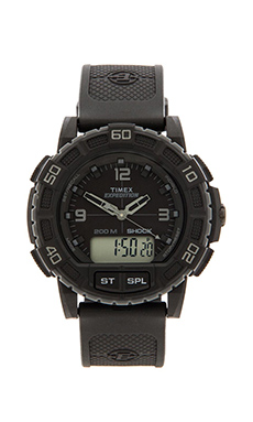 Timex Double Shock in Black