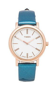 Timex Originals Classic Round Glamour Petite in Rose Gold & Pearl &  Fountain Blue