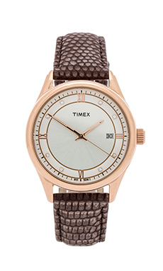Timex Casual Dress in Rose Gold&  White & Mocha