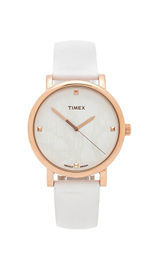 Timex Originals Classic Round Lace in Rose Gold/ White/ White