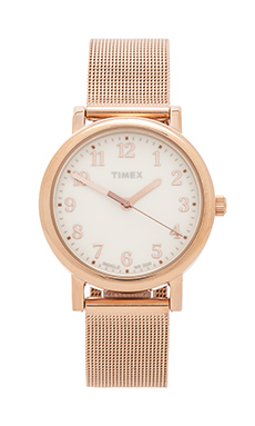 Timex Originals Classic Round 33mm in Rose Gold/ Cream