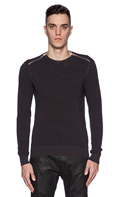 The Kooples Pull Cotton Pearl Stitch in Grey