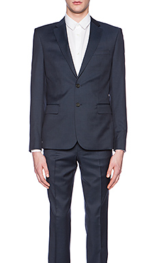 The Kooples Tone Suit Blazer in Navy