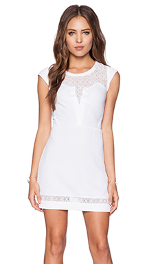 The Kooples Lace Trim Dress in White