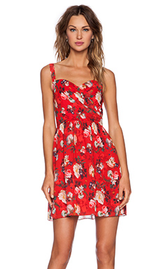 The Kooples Spring Flower Dress in Red