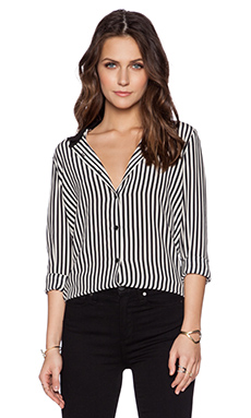 The Kooples Stripe Blouse in Navy