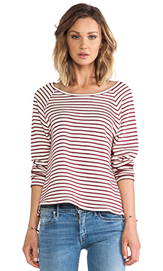 The Lady & the Sailor Raglan in Fig Stripe