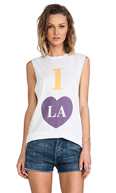 The Laundry Room I Heart LA Muscle Tee in White