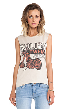 The Laundry Room Rough Twerk Ahead Thrashed Muscle Tee in Nude