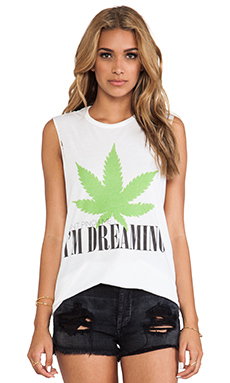 The Laundry Room I'm Dreaming Thrashed Muscle Tee in White