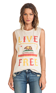 The Laundry Room Live Free Muscle Tee in Nude