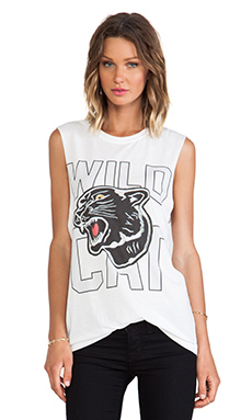 The Laundry Room Wild Cat Muscle Tee in White