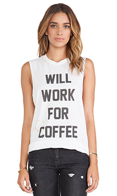 The Laundry Room Will Work for Coffee Muscle Tee in White